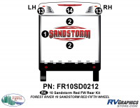 6 Piece 2010 Sandstorm Red FW Rear Graphics Kit