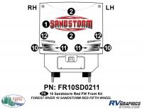 9 Piece 2010 Sandstorm Red FW Front Graphics Kit