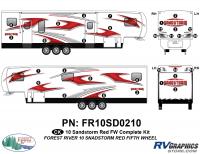 31 Piece 2010 Sandstorm Red FW Complete Graphics Kit