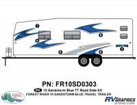6 Piece 2010 Sandstorm Blue TT Roadside Graphics Kit