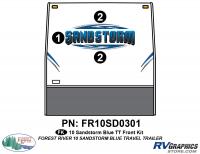 5 Piece 2010 Sandstorm Blue TT Front Graphics Kit