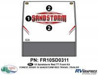 5 Piece 2010 Sandstorm Red TT Front Graphics Kit