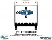 3 Piece 2010 Sandstorm Blue TT Rear Graphics Kit