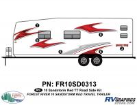 6 Piece 2010 Sandstorm Red TT Roadside Graphics Kit