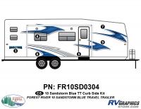 6 Piece 2010 Sandstorm Blue TT Curbside Graphics Kit