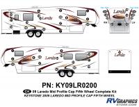 45 Piece 2009 Laredo FW Mid Profile Cap Complete Graphics Kit