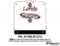 2 Piece 2009 Laredo SLR FW Hi Profile Cap Rear Graphics Kit