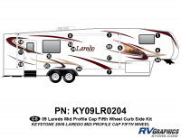17 Piece 2009 Laredo FW Mid Profile Cap Curbside Graphics Kit