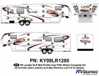 46 Piece 2009 Laredo SLR FW Mid Profile Cap Complete Graphics Kit