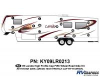 17 Piece 2009 Laredo FW Hi Profile Cap Roadside Graphics Kit