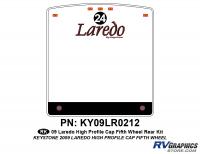 1 Piece 2009 Laredo FW Hi Profile Cap Rear Graphics Kit