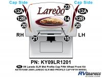 10 Piece 2009 Laredo SLR FW Mid Profile Cap Front Graphics Kit