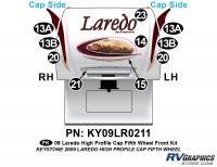 10 Piece 2009 Laredo FW Hi Profile Cap Front Graphics Kit
