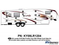 17 Piece 2009 Laredo SLR FW Mid Profile Cap Curbside Graphics Kit