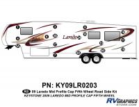17 Piece 2009 Laredo FW Mid Profile Cap Roadside Graphics Kit