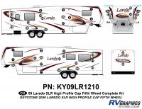 46 Piece 2009 Laredo SLR FW Hi Profile Cap Complete Graphics Kit
