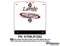 2 Piece 2009 Laredo SLR FW Mid Profile Cap Rear Graphics Kit
