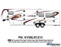 17 Piece 2009 Laredo SLR FW Hi Profile Cap Roadside Graphics Kit