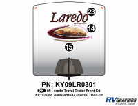 3 Piece 2009 Laredo TT Front Graphics Kit