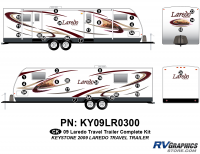 38 Piece 2009 Laredo TT Complete Graphics Kit